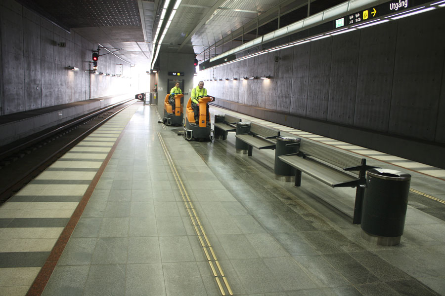 Städning i Citytunneln Malmö